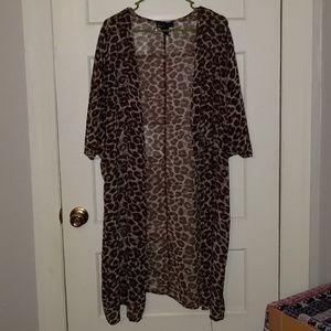 Leopard print sheer kimono!